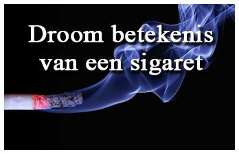 Droom betekenis van een sigaret