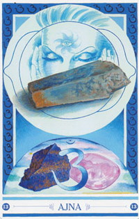 Chakra kaart Stenen van Ajna