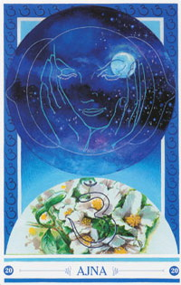 Chakra kaart Natuurbeleving van Ajna