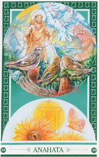 Chakra kaart Franciscus van Anahata