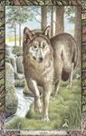 Dieren orakelkaart De Wolf (Faol)