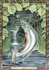 Dieren orakelkaart Zalm (Bradan)