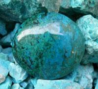 Chrysocolla stenen