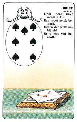 Lenormand kaart Brief