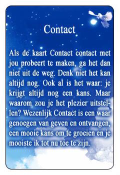Spirituele kaart Contact
