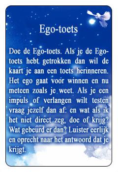 Spirituele kaart Ego-toets