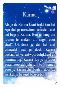 Spirituele kaart Karma