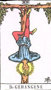 Tarotkaart De Gehangene