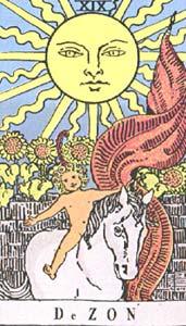 Tarotkaart De Zon