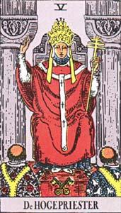 Tarotkaart De Hogepriester