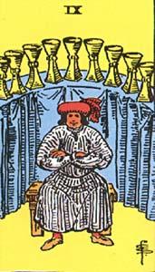 Tarotkaart Bekers Negen