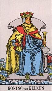 Tarotkaart Bekers Koning