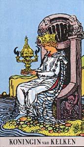 Tarotkaart Bekers Koningin