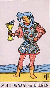 Tarotkaart Bekers Page