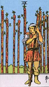 Tarotkaart Staven Negen