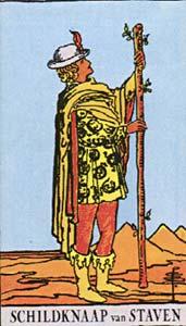 Tarotkaart Staven Page