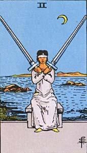 Tarotkaart Zwaarden Twee