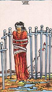Tarotkaart Zwaarden Acht