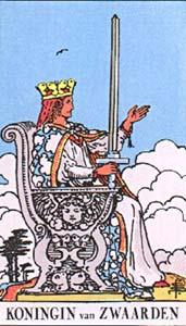 Tarotkaart Zwaarden Koningin