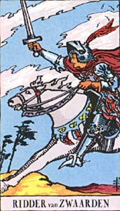 Tarotkaart Zwaarden Ridder