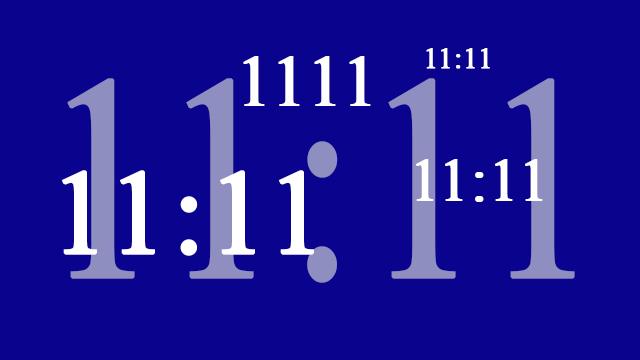 Dezelfde getallen zien 11:11 en 1111